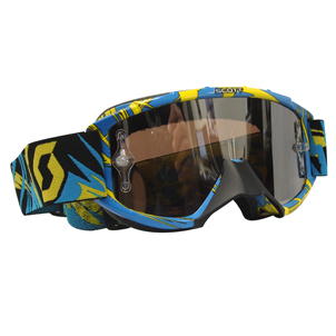 89SI Goggle Youth Pro Strobe Blue/Yellow Chrome Le
