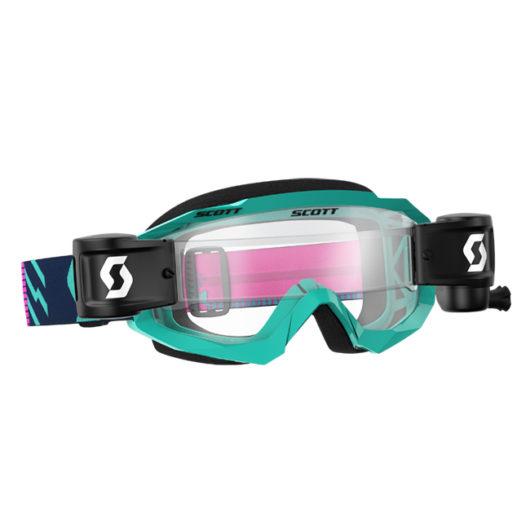 Hustle MX Goggle WFS Teal_Pink Clear wks