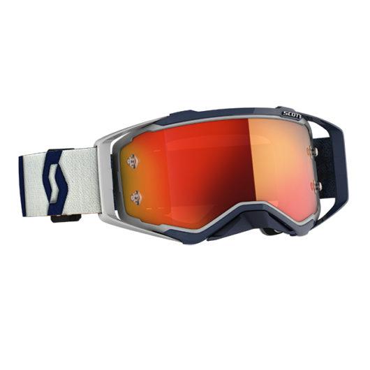 Scott Prospect Goggle White/Red Orange chrome lens